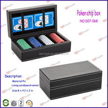 china supplier casino royale poker 300 chips for leather poker card case D07-068