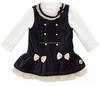 2015 fashion long sleeve velvet formal girls winter dress coats children frocks designs