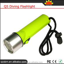OEM Q5 Profession High Power Torch Diving Underwater Flashlight For Diving