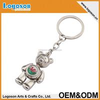 2015 promotional items wedding souvenirs metal teddy bear key chains