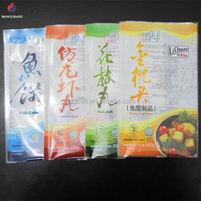 Custom printed OPP PE laminated three side sealed plastic frozen food packaging pouch