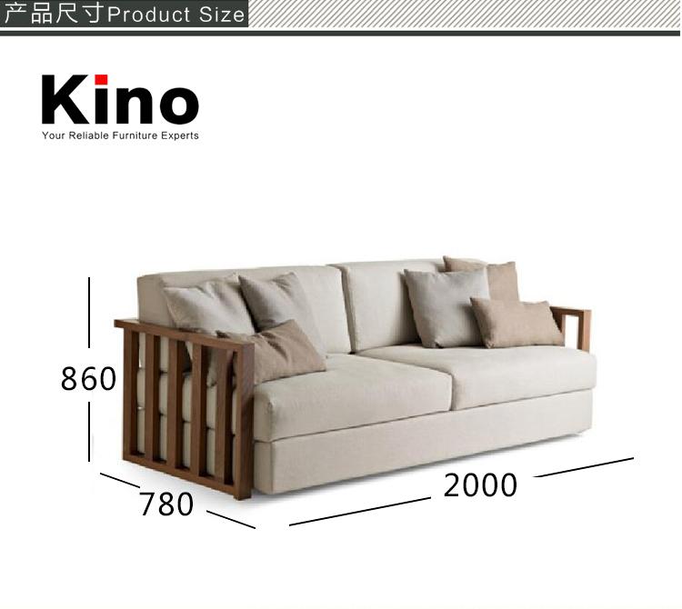 Wood Frame Modern Design Sofa Set Loveseat Home Furniture Fabric ...