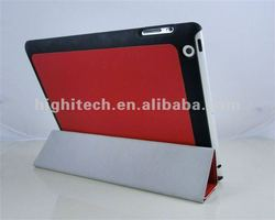 For iPad 3 Genuine Leather Smart Cover Case with back Cover