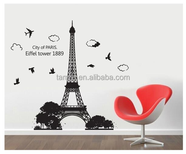 New Arrival Paris Eiffel Tower Wall Sticker - Buy Eiffel Tower Wall ...