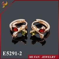 2015 Wholesale Earrings Lady Earring Fashion Zircon Stud Earrings