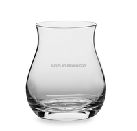 Customized size popular bottle gourd shaped drinking whisky glass special unique model