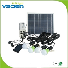 Vscien Portable solar panels systems home solar electricity generation system with 4 bulbs