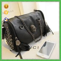 YTF-P-STB130 Personalized Black Skull Design Pu Leather Bags Handbag For Women