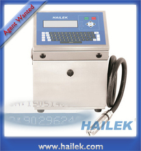 HAILEK MX3 cij inkjet printer white ink coding printing machine 3 lines