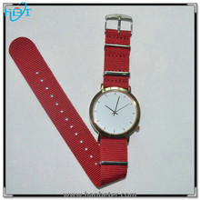 Super quality stainless steel case watch with genuine leather and nylon bands