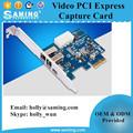 Firewire vidéo pci express capture cartes / multimédia application de transmission de données en temps réel PCI-E capture cartes