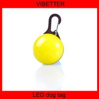 2015 Hot Sales inspirational dog tag Promotional Flashing Safety LED Dog Tag