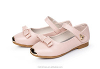 Fashion Girls Flat school shoes Velcro strap kids casual shoes metal toe cap solid single dolly shoes for girls