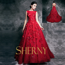 2015 Sherny Bridals New Design Hot Sale Handmade Appliqued Sleeveless see through back Sequins Sexy Evening Dress Turkey