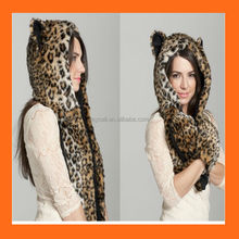 Animal Plush Fluffy Warm Winter Hoody Hat Cartoon Animal cap Fluffy Warm hat