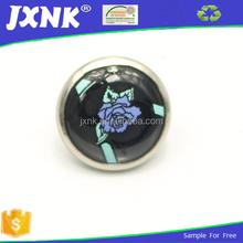 Black with flower crystal epoxy resin for sewing button