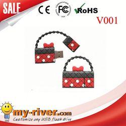 Custom lovely bag shape USB Flash Drive golf bag usb