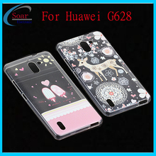 Water transfer printed lovely design TPU case for Huawei Ascend G628