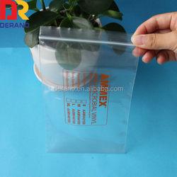 Exporting England/Germany LDPE mini ziplock bag with 1 color printing