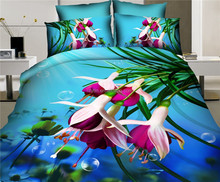 2015 best selling product king size 100% twill cotton reactive printing 5d bedding set