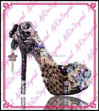 Aidocrystal Handmade High Heel Shoes Luxurious Diamond Wedding Shoe Platform Women High Heels