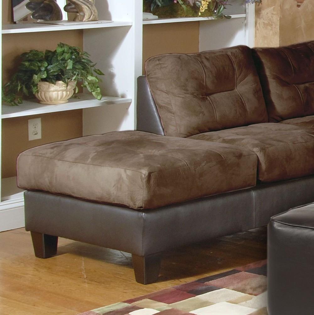 Chocolate de microfibra y cuero de imitaci n izquierda - Tela tapiceria sofa ...