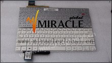 Replacement English laptop keyboard for ASUS X201 X201E S200 S200E notebook keyboard US layout white