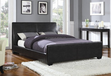 cheap Pvc leather bed, simple pvc leather bed, pu and pvc bed frame