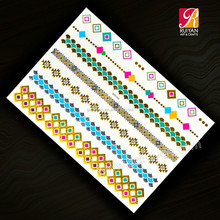 Gold And Silver Stickers Temporary Tattoo YH-009