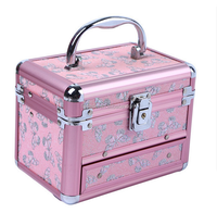 2015 new design portable decorative make up case aluminum case