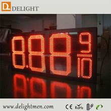 double digits 7 segment display/ gas station price led sign board/ gas station led price sign regular and diesel
