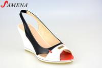 Women slingbacks peep toe wedge shoes