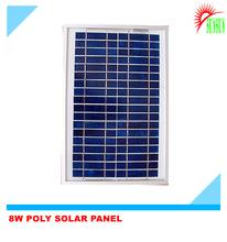 Aluminum frame glass 8W 18V mono solar panel