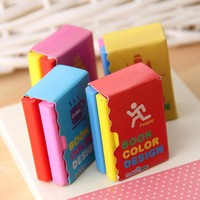 Mini Note Book Pencil Erasers