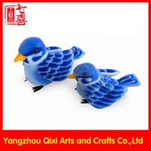 Blue color soft bird toy stuffed plush sparrow bird