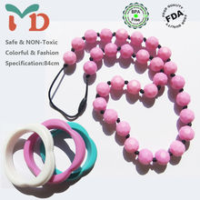 BPA Free Silicone Loose Beads For Teething Jewelry
