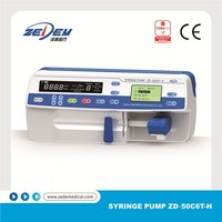 Advanced portable medical single channel Syringe pump with handle