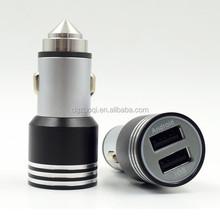 Original Design 5V2.4A 2 Port USB Car Charger for iPhone 6 Tablet