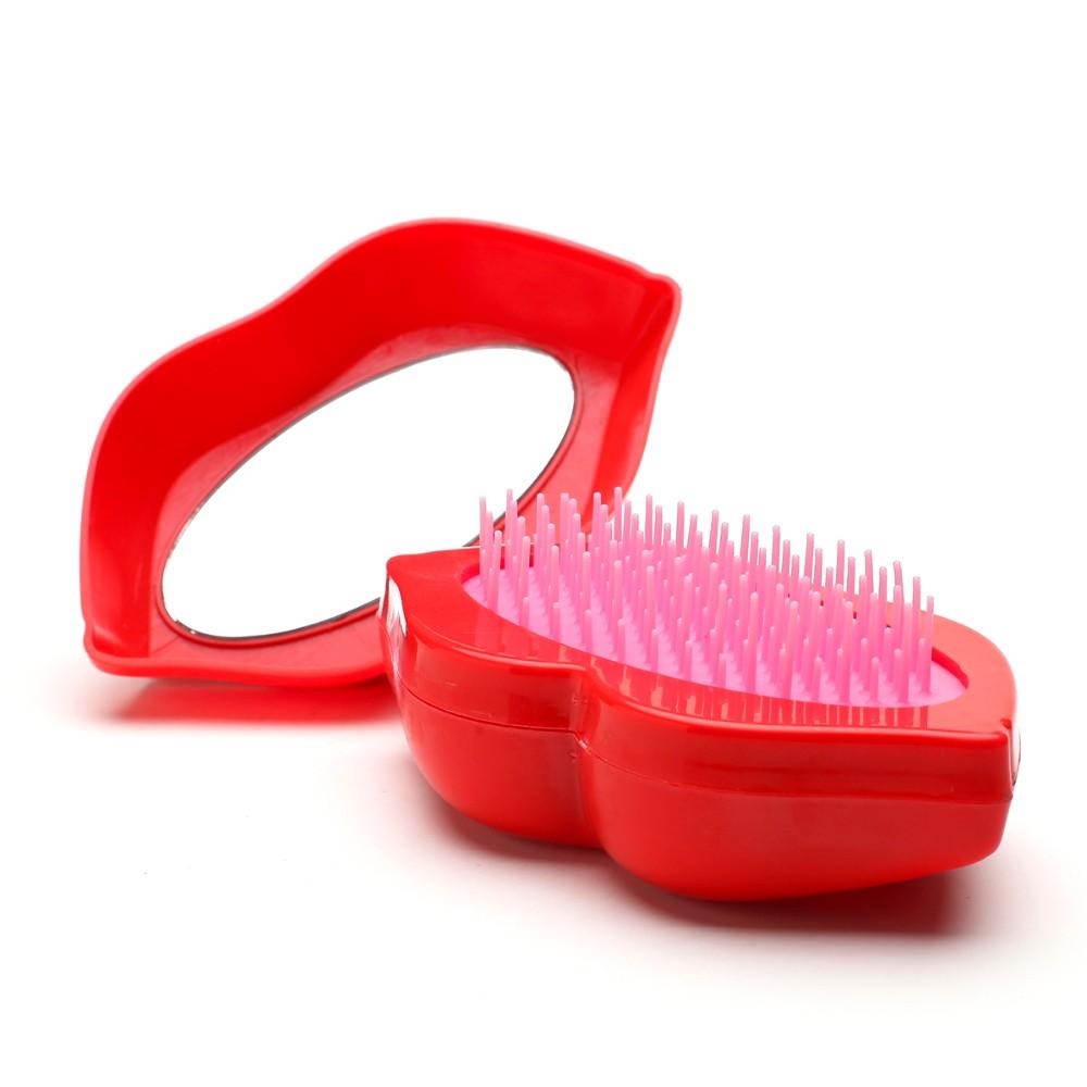 Lip shape folding hair comb-3.jpg