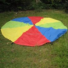 DIA.3.5m kids play rainbow parachute with 8 handles