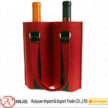 2015 Eco-friendly personalized design felt wine bags for promotional gifts