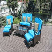 PNT-E-733 Anhui Partner 6Pcs World Source International Cheap Resin Wicker Patio Furniture