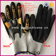Wholesale Sany nitrile TPR knuckle protection cut resistant working glove