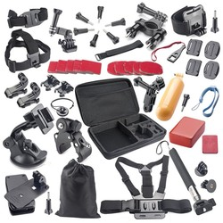 44 in 1 sport camera wholesale accessories for xiaomi yi/ go pro heros 4 with go bag