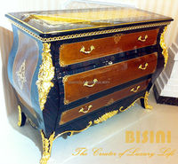BISINI Baroque Collection Luxury Antique Gilded Commode