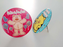 Wholesale cute botton badges with plastic frame carrier for decoration gift