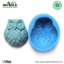 Zibo Nicole R1260 3D Cute Owl shaped Flexible Handmade Silicone Molds For Soap
