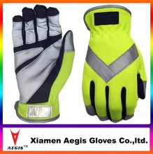 Lightweight Silver Series All Purpose WORK GlOVES with Reflective tape Safety Gloves