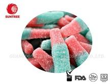 Fizzy Sour Gummy Cola Bottle Fruit Flavor Sugar Sanded