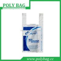 High Quality 15 Microns Russian Market Plastic T Shirt Bags